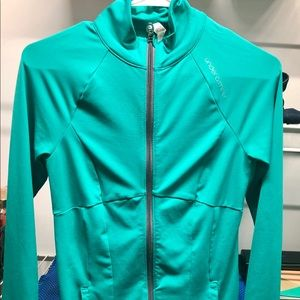 Green/Teal Under Armour Zip Up sweater